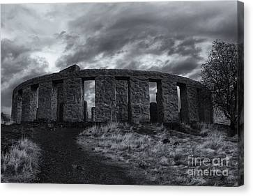 Stonehenge Canvas Print - Stonehenge Of America by Mike  Dawson