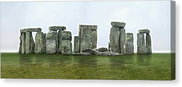 Stonehenge Panoramic - England Canvas Print by Mike McGlothlen