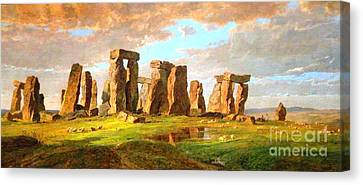 Stonehenge Canvas Print by Pg Reproductions