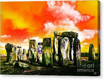 Stonehenge Sunset Canvas Print by Neil Finnemore
