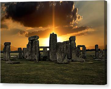 Wiltshire Canvas Print - Stonehenge Wiltshire Uk by Martin Newman