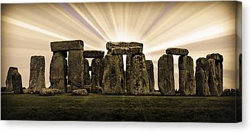 Amesbury Canvas Print - Stonehenge -- With Sunburst by Stephen Stookey