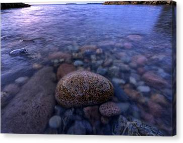 Stones And Water In Acadia National Park Canvas Print