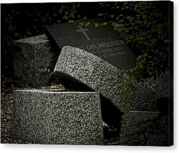 Rest In Peace Canvas Print - Stones In My Passway by Odd Jeppesen