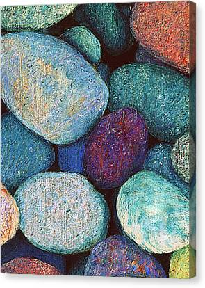 Stones In Pastel Canvas Print by Antonia Citrino