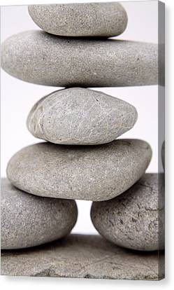 Stones Canvas Print by Les Cunliffe