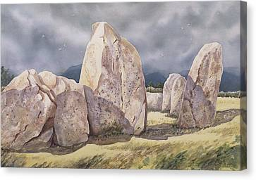 Archaeology Canvas Print - Stones Of Castlerigg by Evangeline Dickson