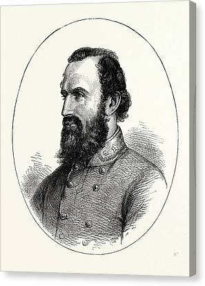Stonewall Jackson, American Civil War, United States Canvas Print by American School