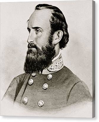 Stonewall Jackson Confederate General Portrait Canvas Print by Anonymous