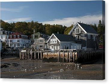Canvas Print featuring the photograph Stonington Harbor by Paul Miller