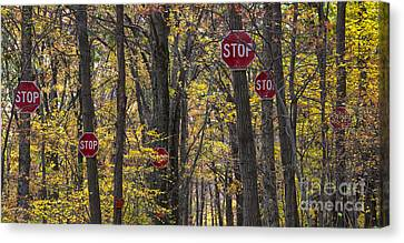 Stop A Subtle Suggestion To Keep Out Canvas Print