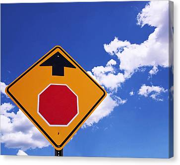 Stop Ahead Canvas Print by Rona Black
