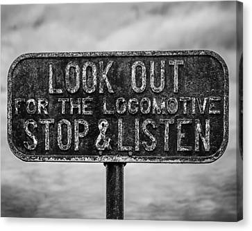 Stop And Listen Canvas Print by Steve Stanger
