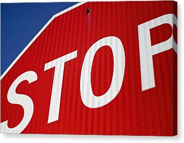 Stop Sign Canvas Print - Stop by Carol Leigh