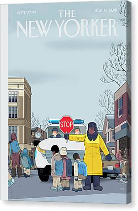 Stop Canvas Print by Chris Ware