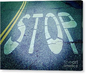 Stop Sign Canvas Print - Stop by Colin and Linda McKie