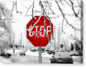 Stop Glacee Canvas Print by Valentino Visentini
