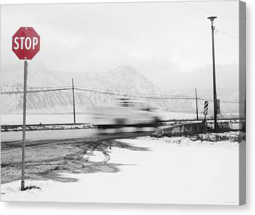 Stop - In The Name Of Love Canvas Print by Theresa Tahara