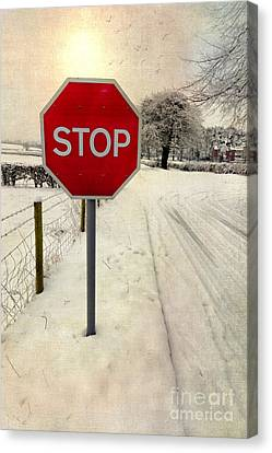 Stop Sign Canvas Print by Adrian Evans