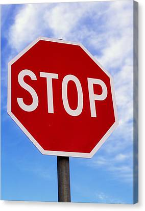 Stop Sign Ireland Canvas Print by The Irish Image Collection
