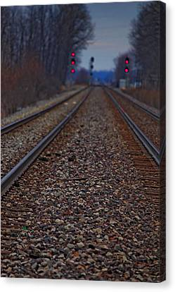 Canvas Print featuring the photograph Stop The Train by Rowana Ray