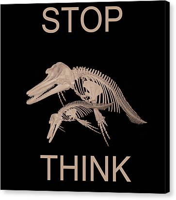 Stop Think Canvas Print by Eric Kempson