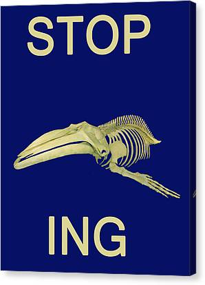 Stop Whaling  Canvas Print by Eric Kempson