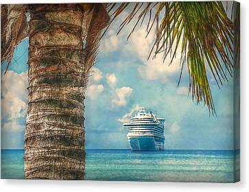 Canvas Print featuring the photograph Stopover In Paradise by Hanny Heim