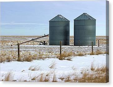 Storage Bins On The Prairie Canvas Print