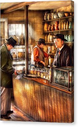 Store - Ah Customers Canvas Print by Mike Savad