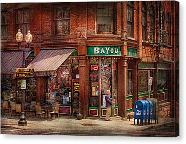 Store - Albany Ny -  The Bayou Canvas Print by Mike Savad