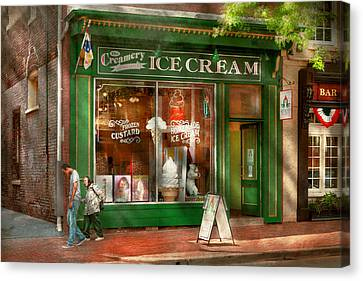 Store Front - Alexandria Va - The Creamery Canvas Print by Mike Savad