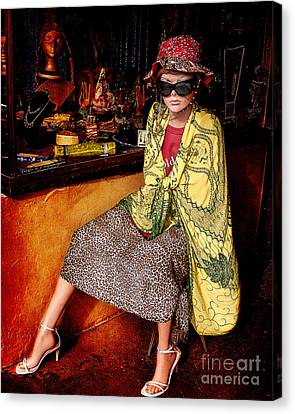 Store Front Mannequin  Canvas Print by Janice Rae Pariza