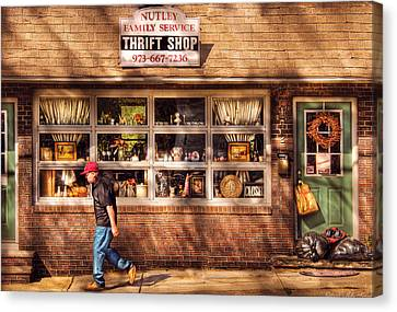 Store -  The Thrift Shop Canvas Print by Mike Savad