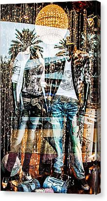 Store Window Display Canvas Print by Rudy Umans