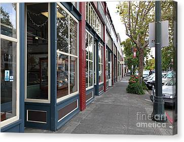Storefronts In Historic Railroad Square Area Santa Rosa California 5d25856 Canvas Print by Wingsdomain Art and Photography