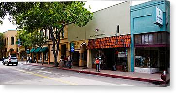 Stores At The Roadside, Downtown San Canvas Print