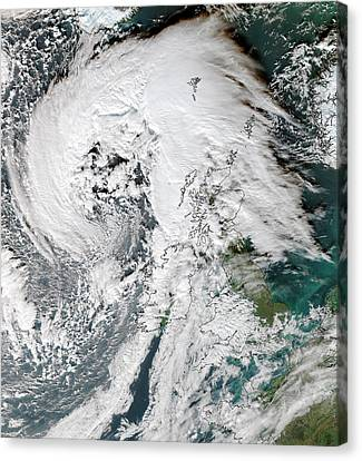 Storm Abigail Canvas Print by University Of Dundee