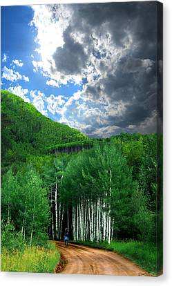 Storm Above Pennock Pass Colorado Canvas Print by Ric Soulen