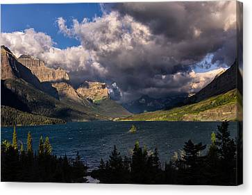 Kathleen Canvas Print - Storm Above St. Mary Lake by Kathleen Bishop
