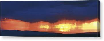 Storm Along The High Road To Taos Santa Canvas Print