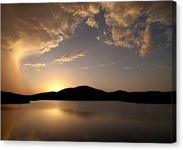 Storm Approaching At Sunset - Wichita Mountains Canvas Print