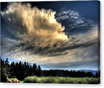 Storm Approaching Canvas Print by Peter Mooyman