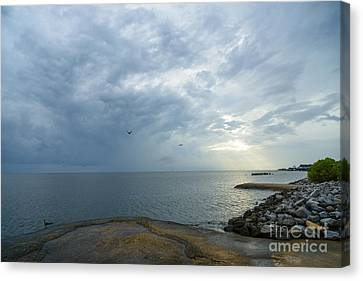 Storm At Big Mouth Canvas Print by Russell Christie