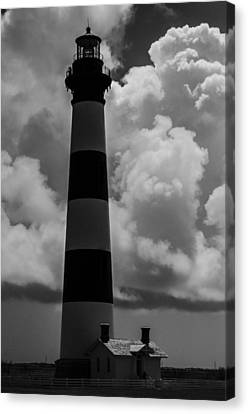 Storm At Bodie Light Canvas Print