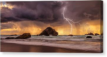 Storm At Face Rock Canvas Print