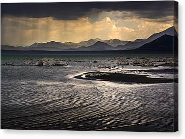 Storm At Mono Lake Canvas Print by Joe Doherty