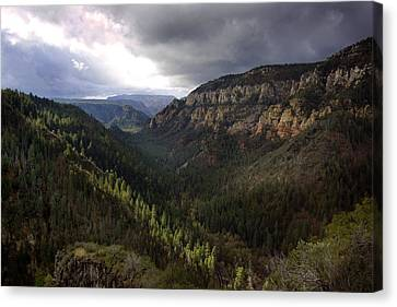 Storm At Oak Creek Canyon Canvas Print