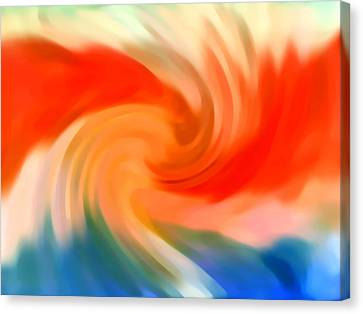 Abstract Seascape Canvas Print - Storm At Sea 2 by Amy Vangsgard