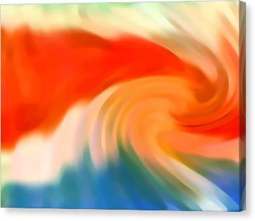 Storm At Sea 3 Canvas Print by Amy Vangsgard
